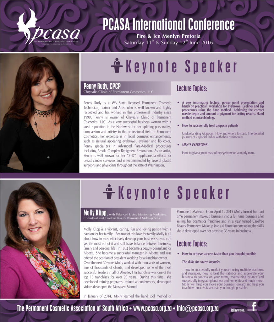 PCASA Keynote Speakers 2016 - (220316)