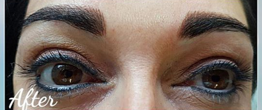 Doné did eyeliner a few years ago, client came for brows. Healed eyeliner and ne…