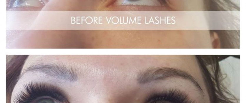 Lash-On Individual Eyelash Extensions from Cherryink Beauty Group before and aft…