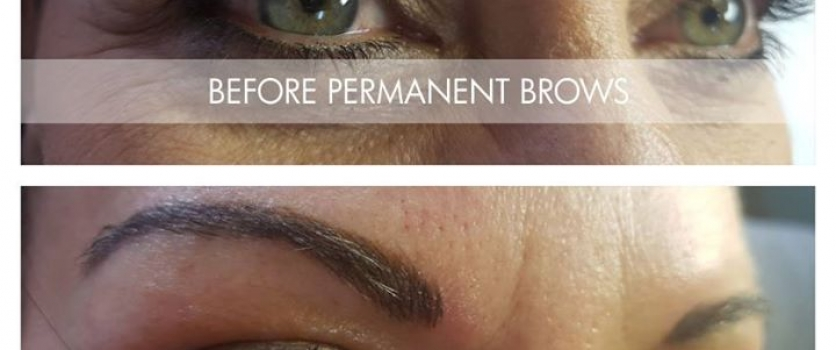 Before and After Permanent Brows done by Doné's