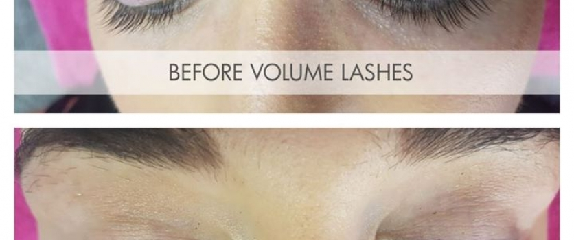 Before and After Volume Lashes at Doné's