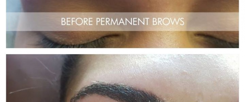 Before and After Permanent Brows at Doné's