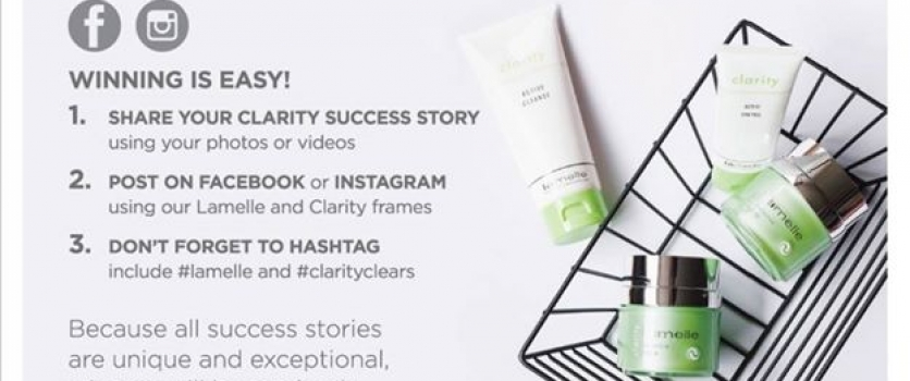 You could WIN 1 year of Clarity Treatment valued at R10,000 at Doné's with Lamel…