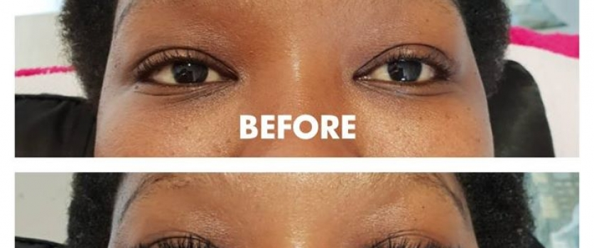 Before and After Volume Lashes by Terri at Doné's at In The Mood