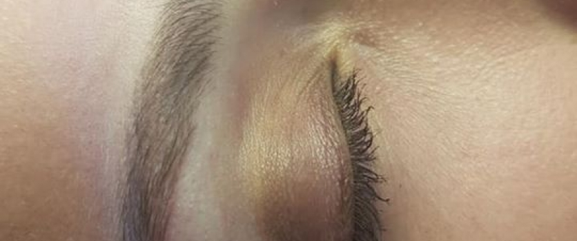 Healed brows before touch up