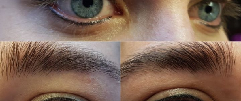PMU: Healed eyeliner before touch-up done at Doné's