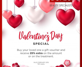 Celebrate Valentine's Month at Doné's  Valid until the end of February 2019. T&C…
