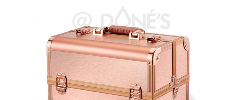 ROSE GOLD COSMETIC CASE: Now available at Beauty Distributors at Doné's for R700