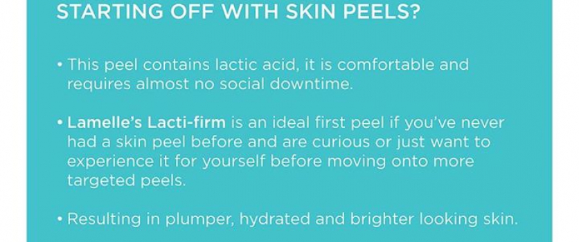 Lamelle's Lacti-firm skin-peel is available at Doné's